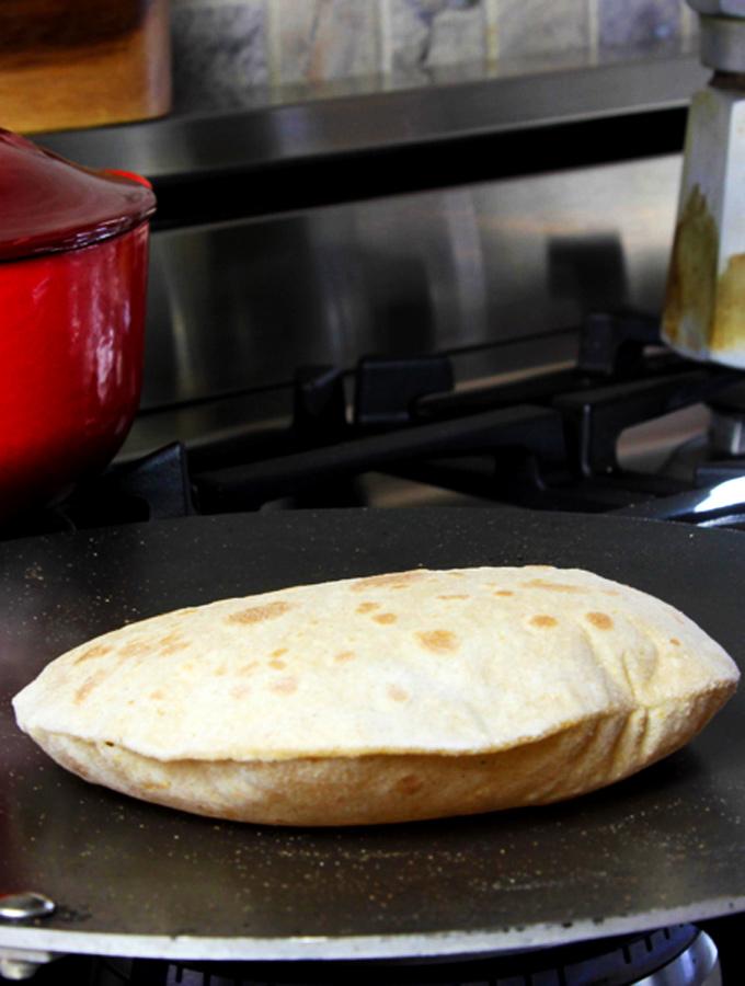 whole wheat roti flatbread
