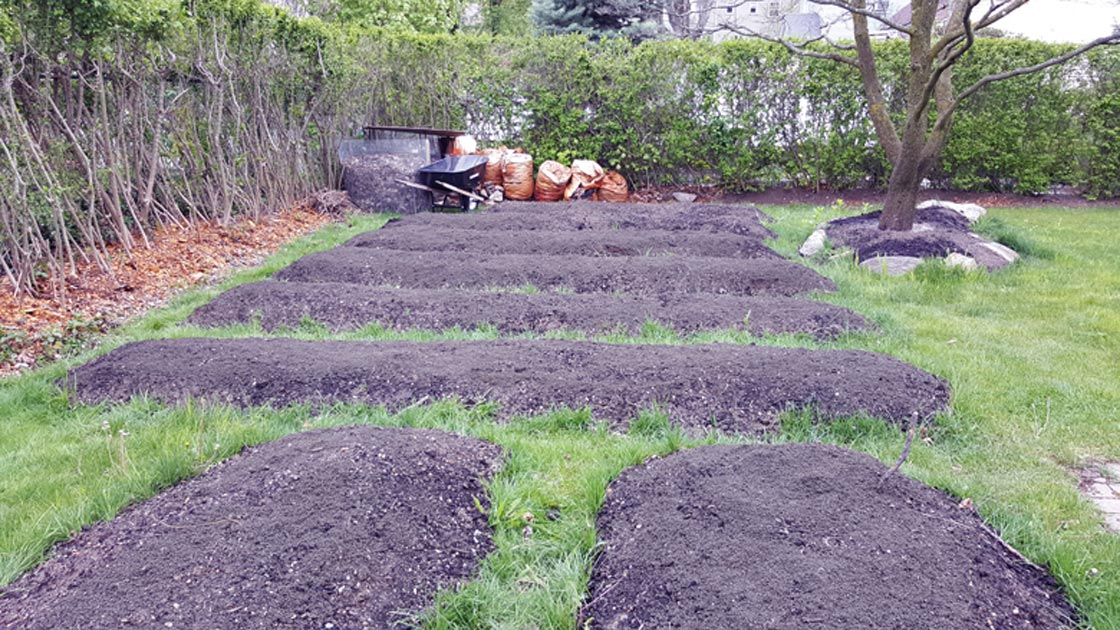 backyard garden bed preparation in Hudson Valley New York