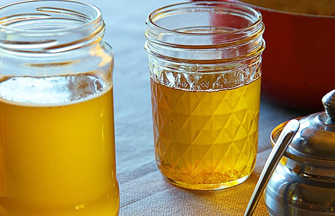 homemade warm ghee in jars
