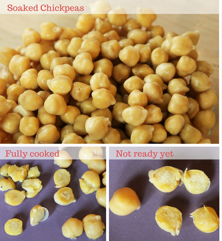 Cook dry chickpeas from scratch