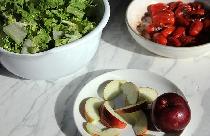 seared cherry tomato salad