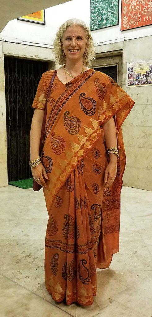 westerner wearing a sari
