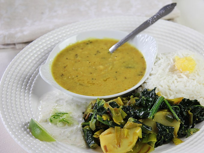 Indian dinner dal basmati rice