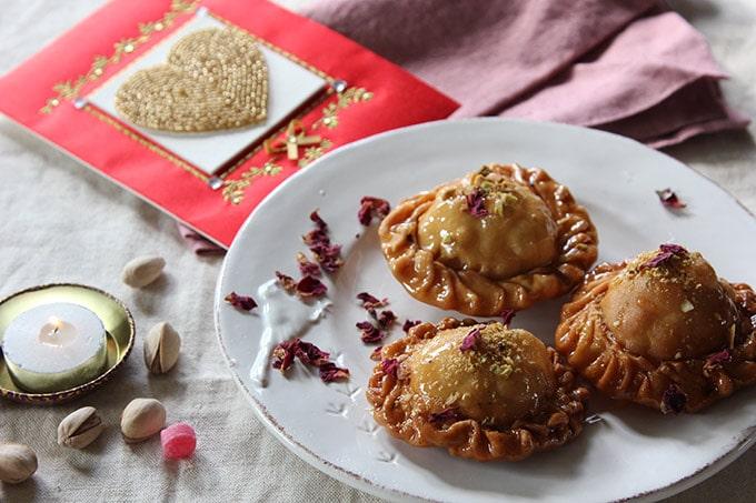 Pistachio and Apricot Pastries Chandrakala