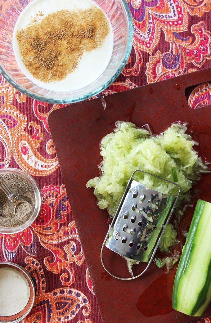 savory yogurt cucumber raita