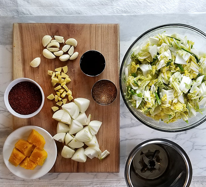 Vegetarian fermented kimchi