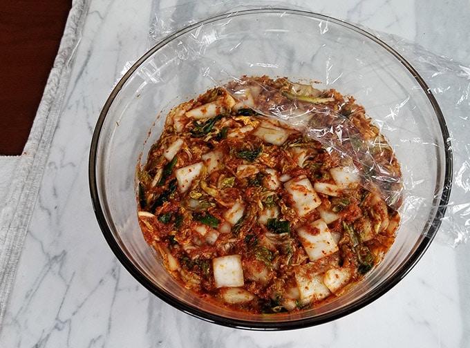 vegetarian napa cabbage kimchi