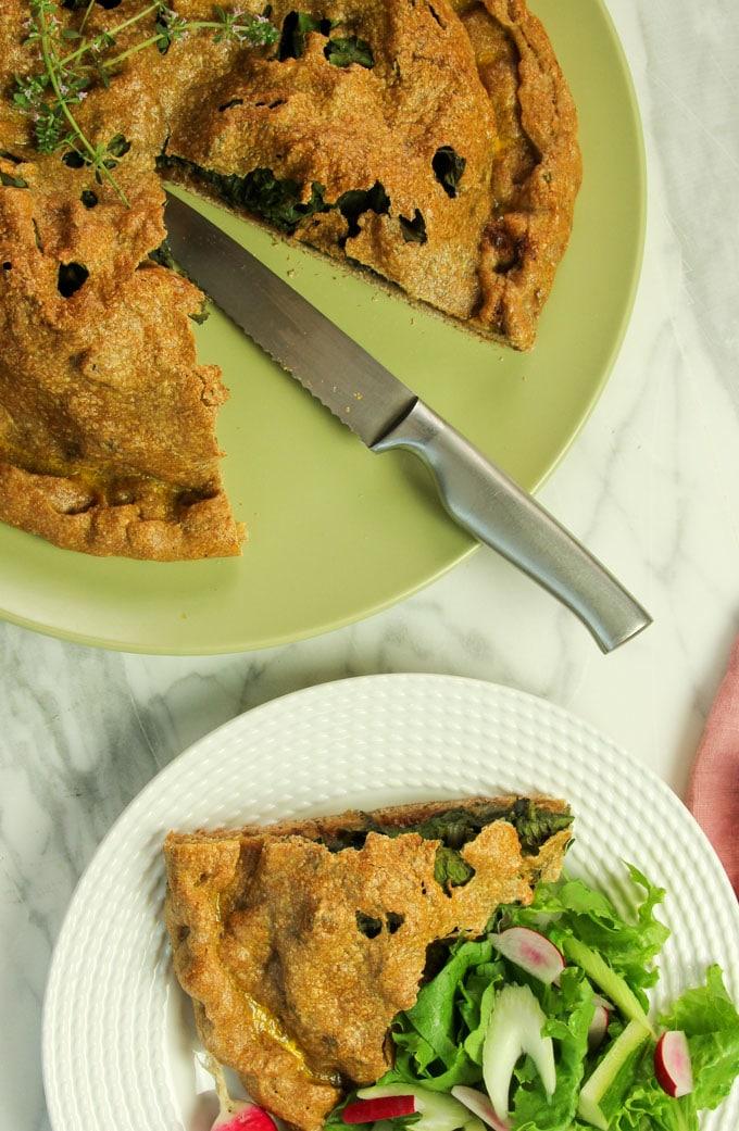 Swiss chard pie
