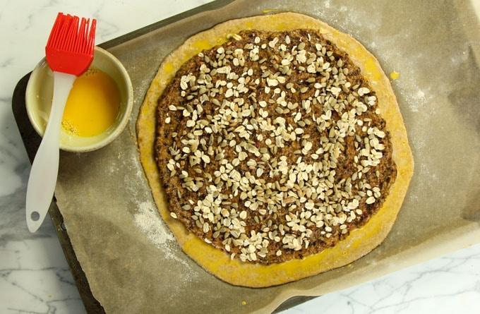 Swiss chard pie crust