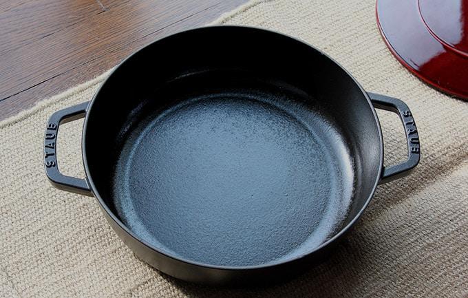 Staub cast iron braising pot