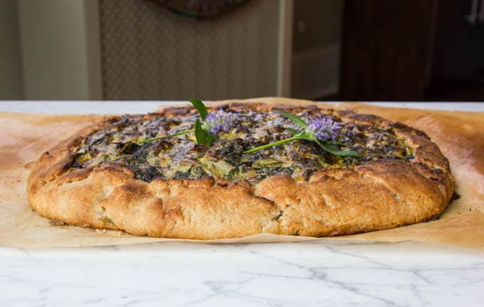 Swiss chard and leek crostata