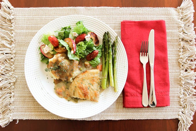 Vegetarian holiday dinner plate