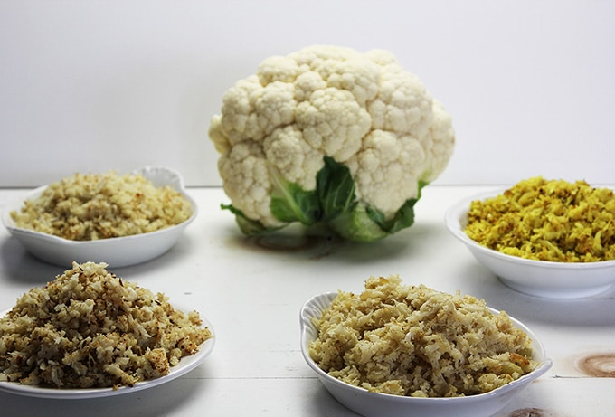 Cauliflower rice for a vegetarian holiday dinner