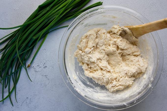 shaggy dough for scallion pancakes