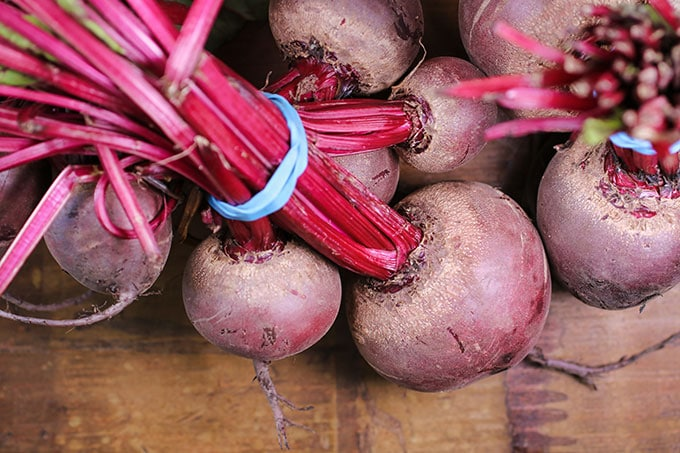 beets at the farmer's market