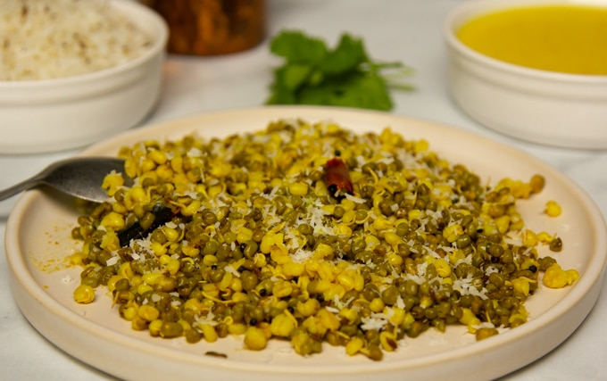 Sprouted Mung Bean Sauté