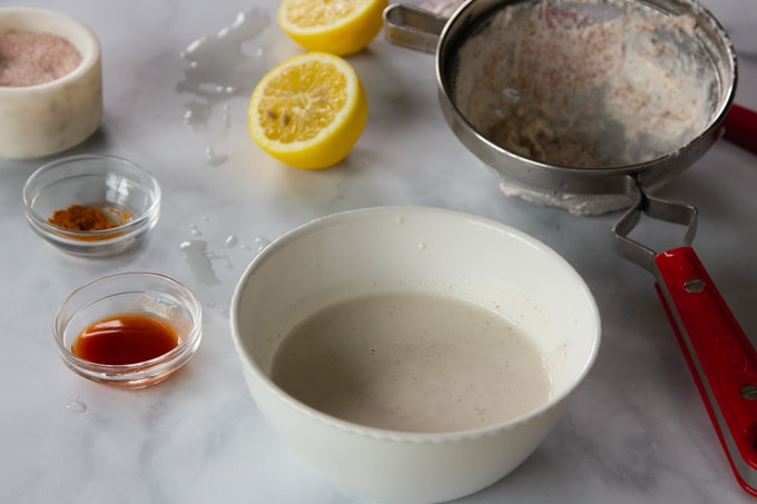 nut milk for vegan hollandaise sauce