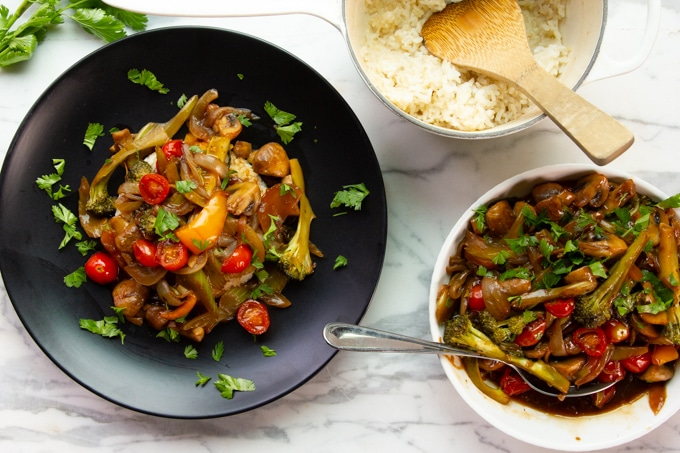 Asian veg stir-fry