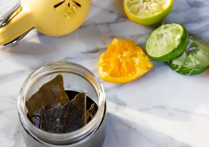 kombu seaweed in ponzu sauce