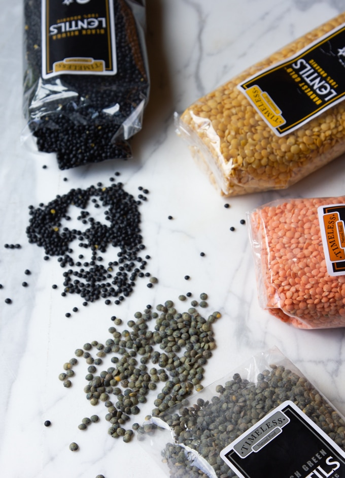 Timeless Natural Food speciality lentils.