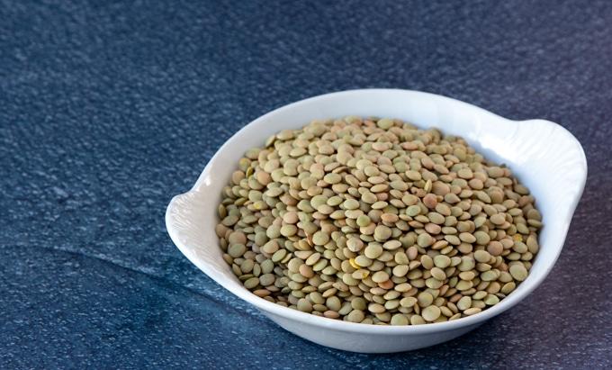 Brown lentils.
