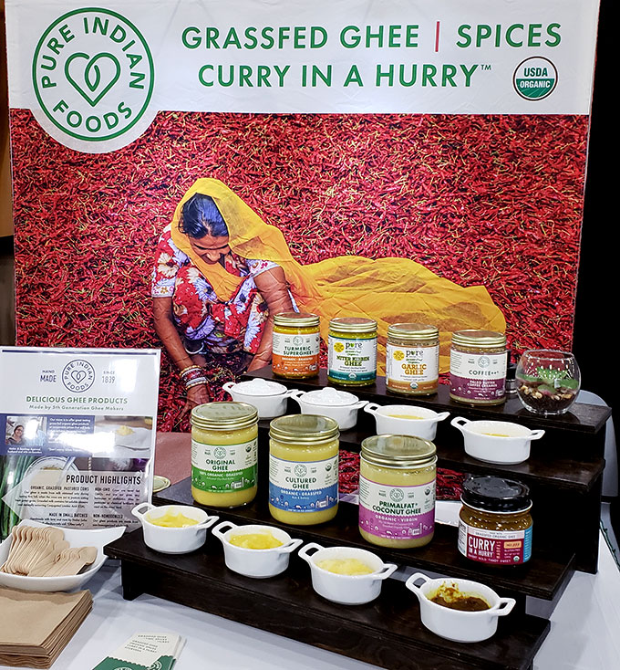 Pure Indian Foods ghee at the Fancy Food Show 2019