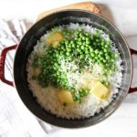 Easy Vegetarian Risotto with Parmesan and Peas