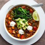 vegetarian chili in a bowl
