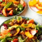 peach salad with maple-mustard vinaigrette